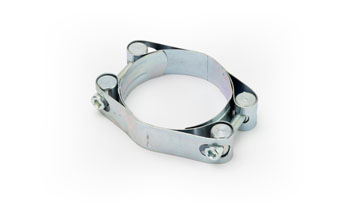 D/B 116-126 Superex 2 Bolt Heavy Duty Steel Hose Clamps