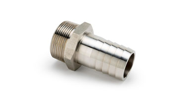 1/4 x 1/4 Taper Stainless Steel Hose to Fixed Male Connector Taper Thread