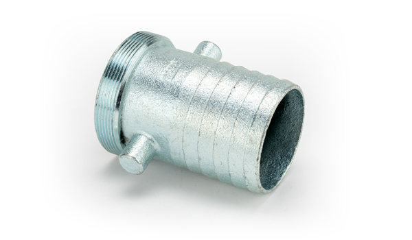 1 1/2 x 1 1/2 Malleable Iron Male Zinc Plated